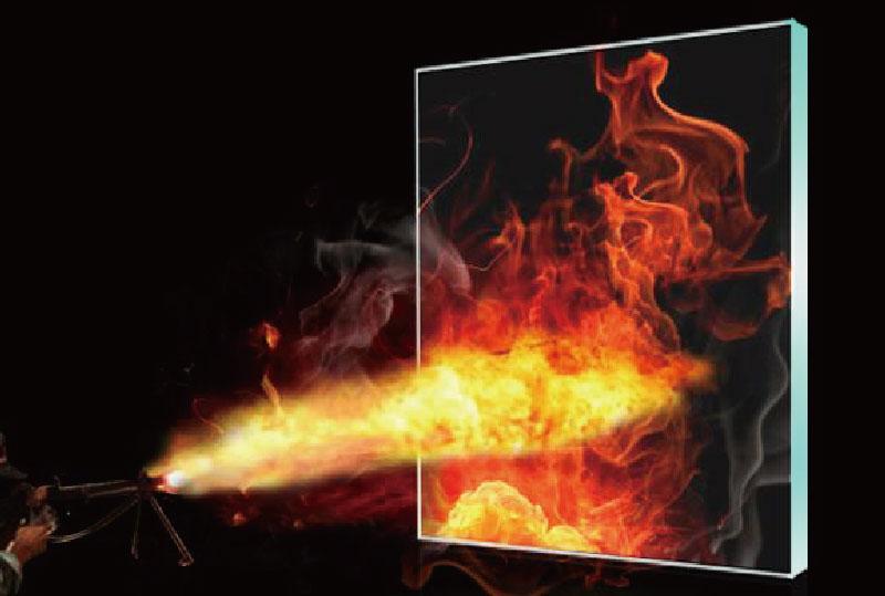 夾層復合防火玻璃