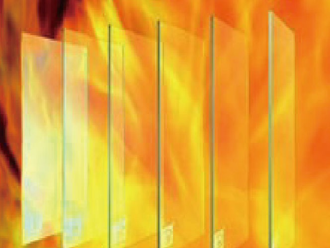 高強度單片艷鉀防火玻璃