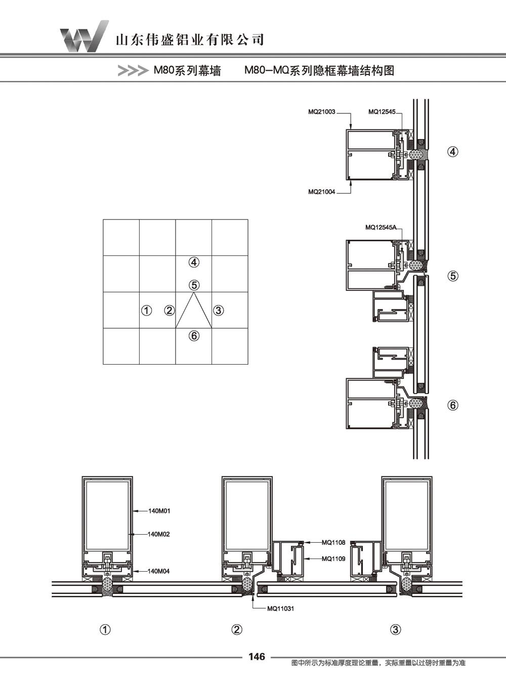 M80-MQ系列隐框幕墙型材
