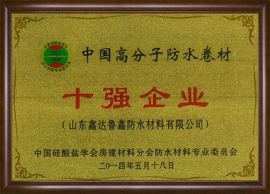 中國高分子防水卷材十強企業