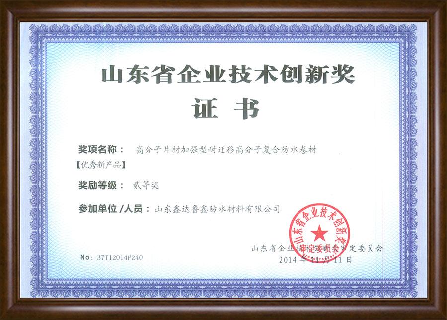 山東省企業技術創新獎
