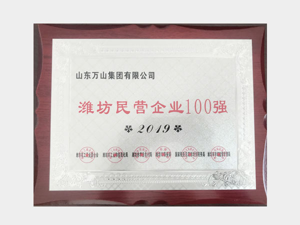 2019潍坊民营企业100强